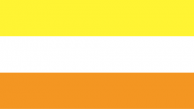 Maverique-Flagge: gelb-weiß-orange